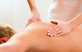 Image of patient getting a massage.